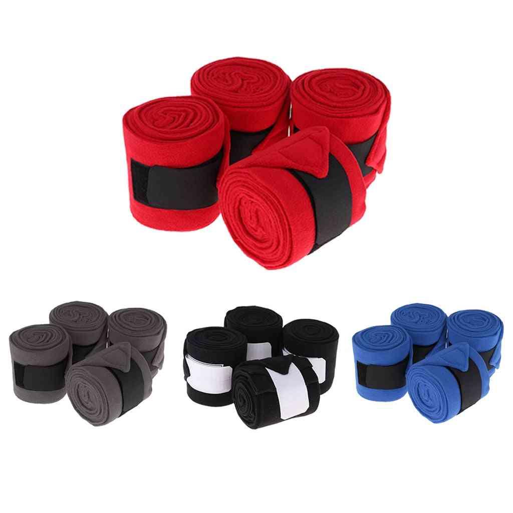 4 Pcs Horse Polo Wraps Pony Legging Wrap Bandage Polo Outdoors Equipment