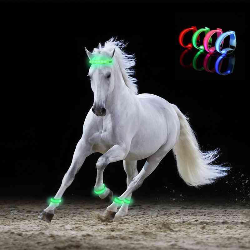 Led Lighting Horse Leg Safety Belt Horse Leg Straps Night Riding Equipment