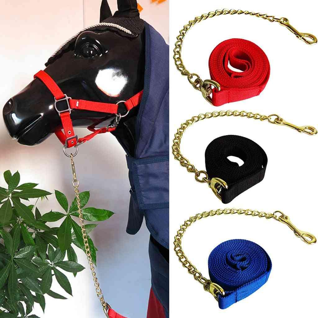Pp Horse Lead Rope Strap Adjustable Equestrian Rein Racing Halters Webbing Rope