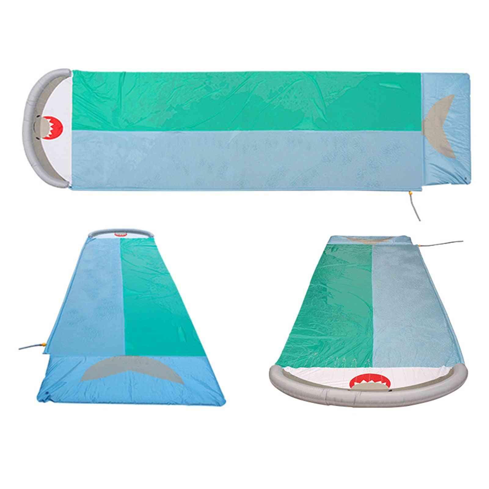 Double Racer Pool Kids Summer Park, Backyard Play, Fun, Outdoor Splash, Slip N Slide Wave Rider, Inflatable Water Slide