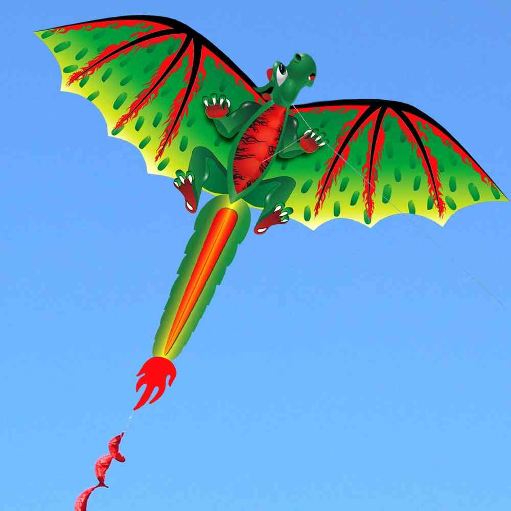 Cartoon Dragon Kite With Tail Kites For Adult, Kids, Outdoor Beach Park Flying