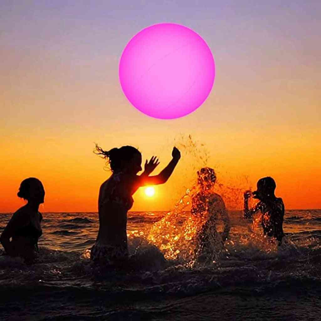 Swimming Pool Toy, Glowing Ball, Inflatable Led Beach Water Play Equipment, Entertainment