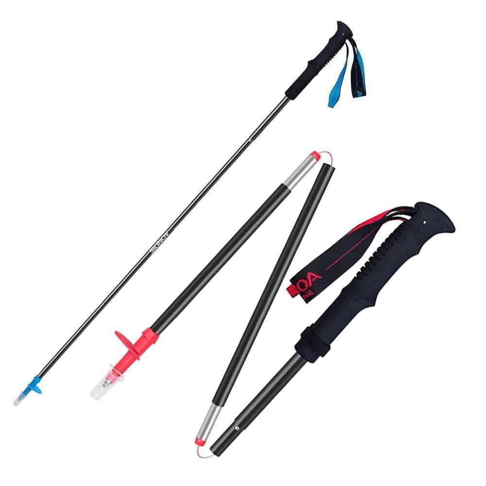 1 Piece Tri-fold, Folding Lock, Trekking Poles, Walking Running Stick