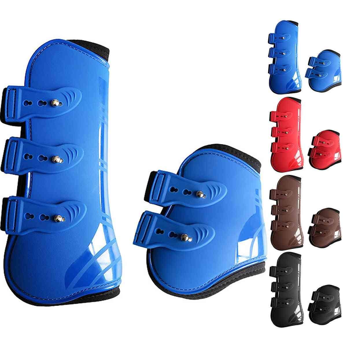4pcs Practical Front Hind Brace Protection Wrap Farm Horse Leg Boots