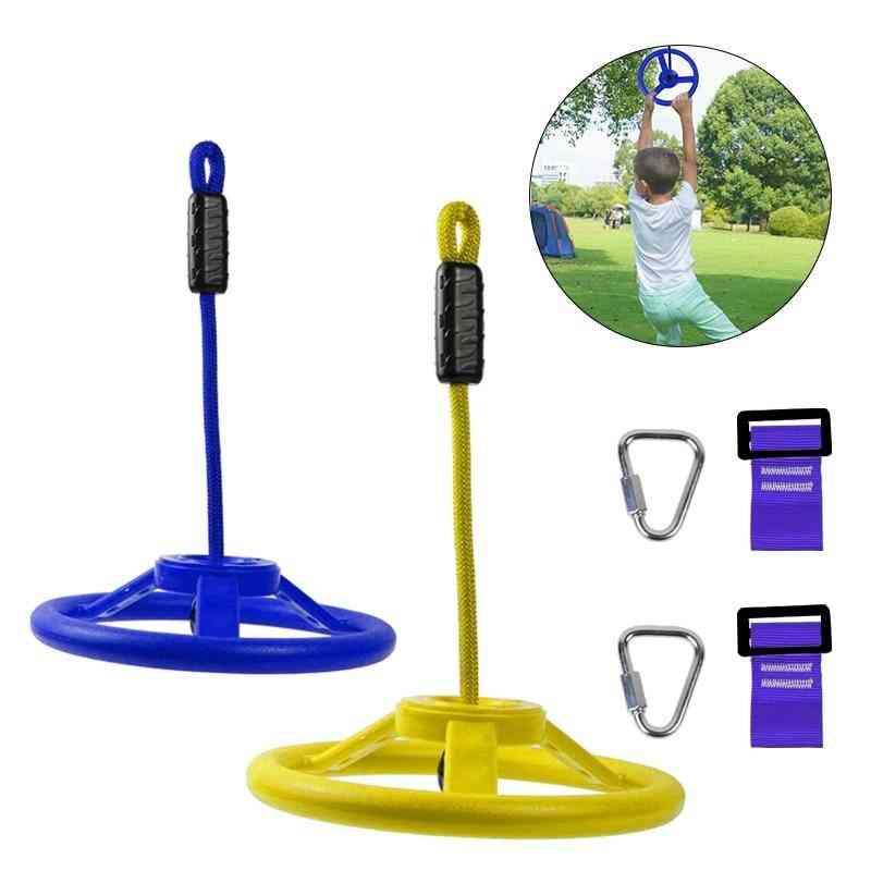 Outdoor Hanging Wheel, Arm Strength, Training Line, Climbing Carabiner Tool