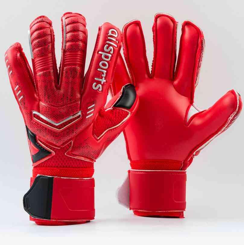 4mm Latex Goalkeeper Gloves Finger Protection Thickened Soccer Gloves