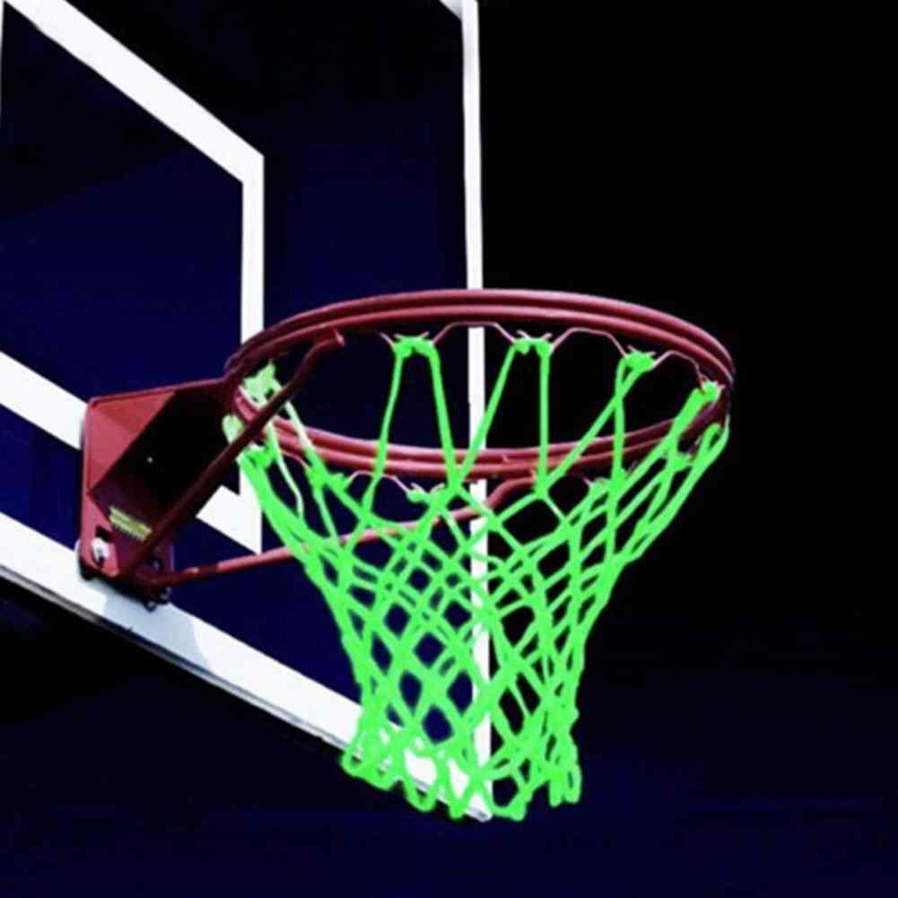 1pc 12 Buckles Braided Nylon Glowing Light Luminous Basketball Net Night Training