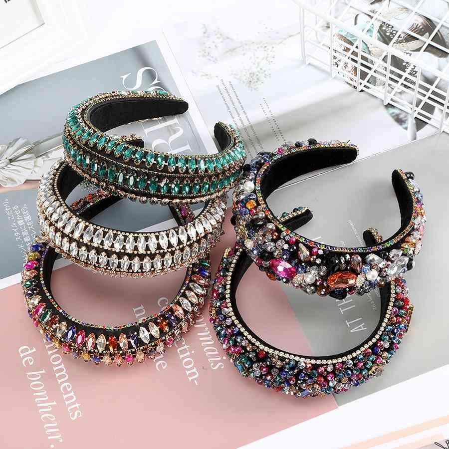 Full Crystal Luxury Headband Hairbands Sparkly Padded Rhinestones