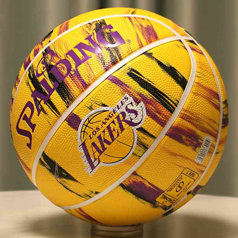 Original Spalding Lakers Spurs Warriors Team Game Official Authentic Basketball