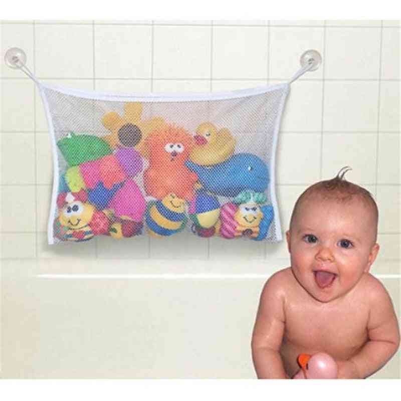 Suction Kids Baby Bath Tub Toy, Tidy Cup Bag Mesh