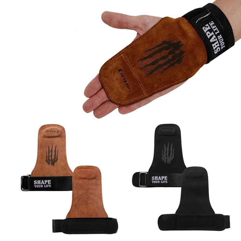Weight Lifting Hand Grips- Gymnastics Palm Gym, Power Protector Gloves