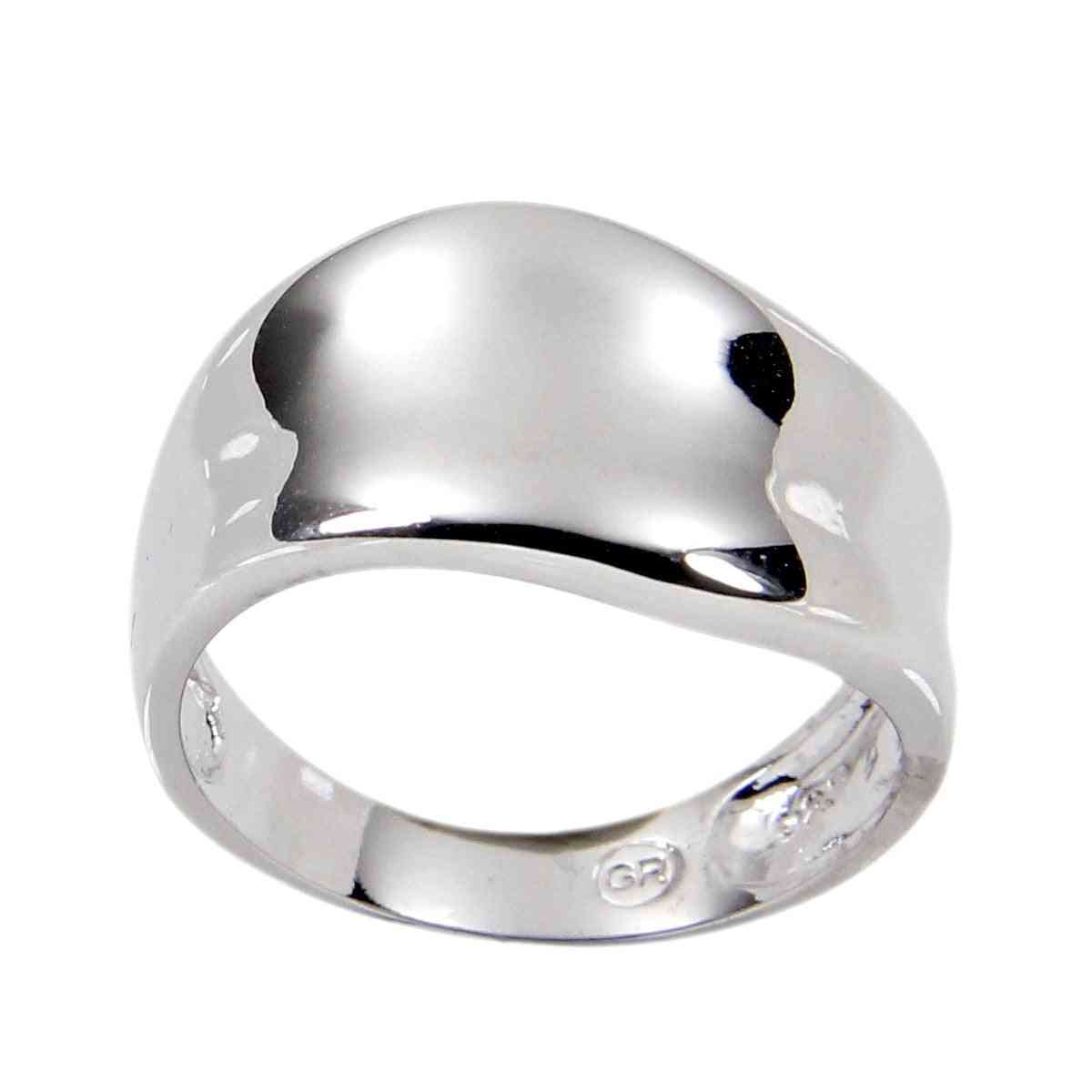 Sterling Silver Wave Contemporary Band Ring