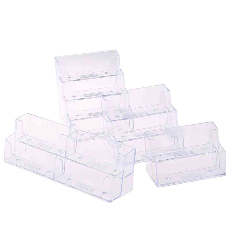 Desktop, Office Business Card Holder Stand Clear Transparent Acrylic Counter
