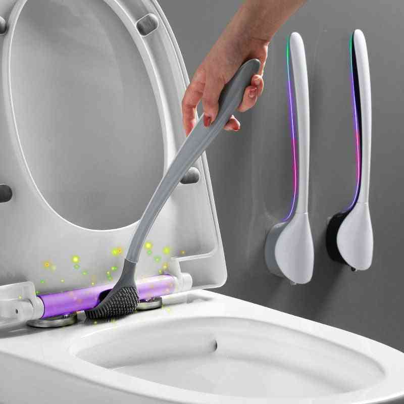 Silicone Head Toilet Brush Wall-mount