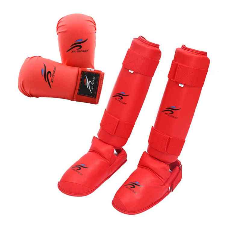 Taekwondo Equipment, Mma Suit Boxing Gloves Set, Leg Shin Guard, Hand Palm Foot Protector, Men  Karate