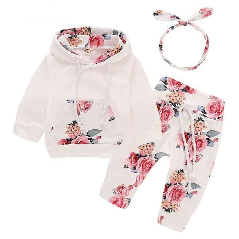 Floral Newborn Baby Girl Clothes, Children's Clothing Girl Tracksuit