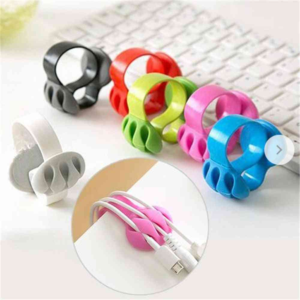 Mouse Cable Holder Cord Clip Usb Charger Wire Organizer