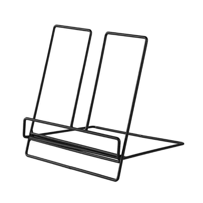 Multifunction Geometric Storage Rack Wrought Iron Organizer