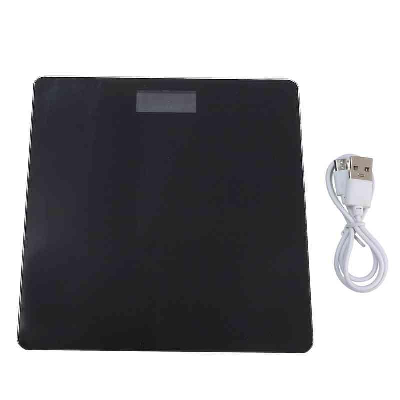 Usb Charging Lcd Display Digital Bathroom Body Weight Scale