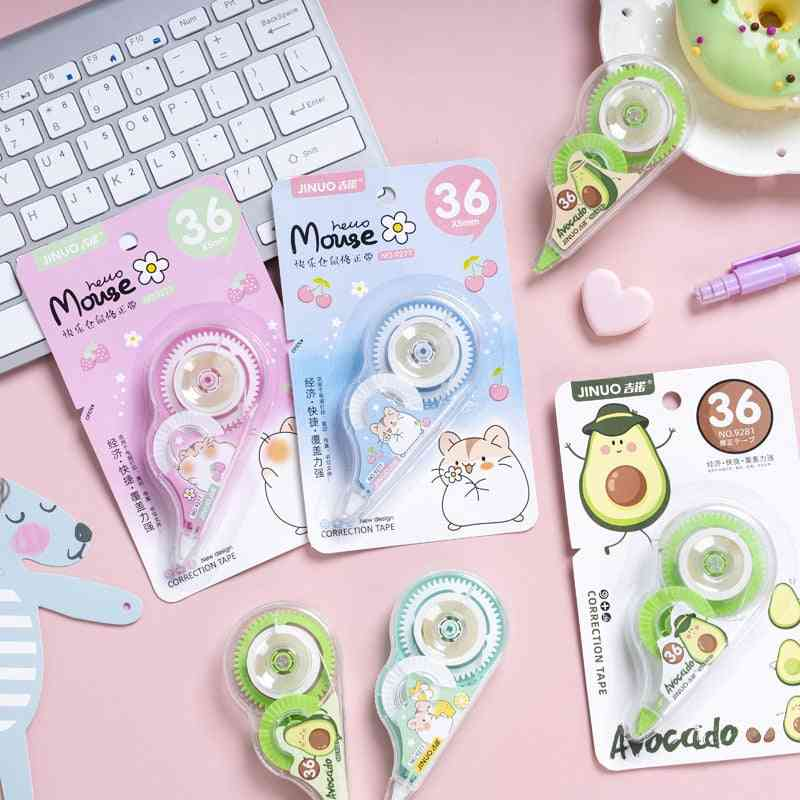 Cute Avocado Hamster White Out Correction Tape, School, Office Supplies, Corrector Stationery