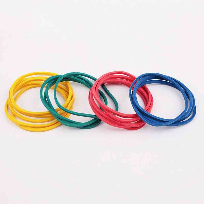 1 Pakage Color Rubber Band Office Circle Type Elastic Rubber Belt