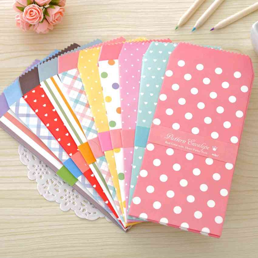 5pcs Colorful Envelope Small Craft Envelopes For Letter