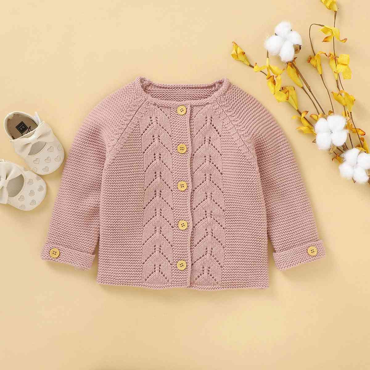 Newborn Baby Girl Clothes Sweater, Autumn-winter Outcoat