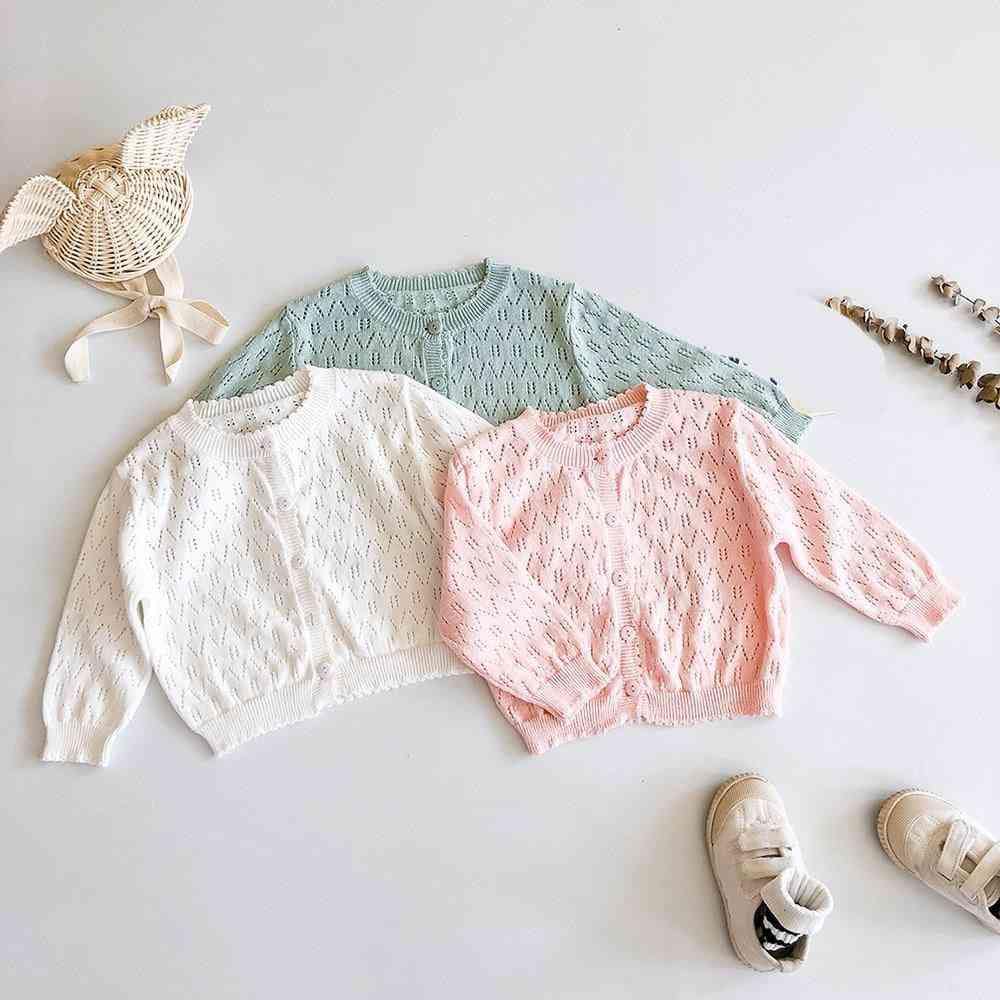 Baby Girl Princess Thin Air-conditioning Shirt, Knitted Coat