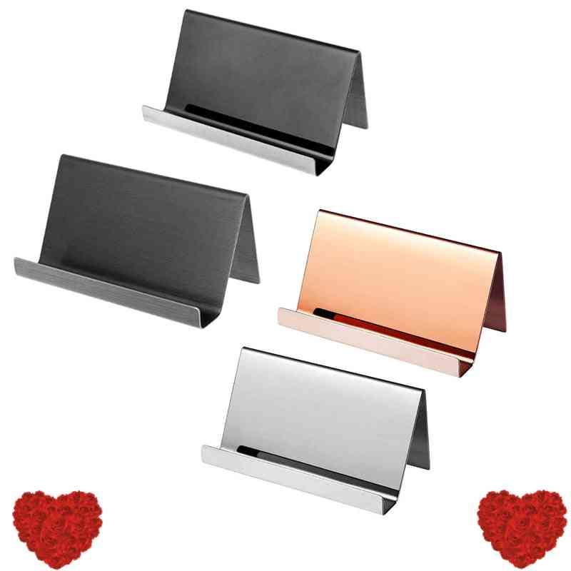 High-end Stainless Steel Business Name Card Holder Display Stand Rack Organizer