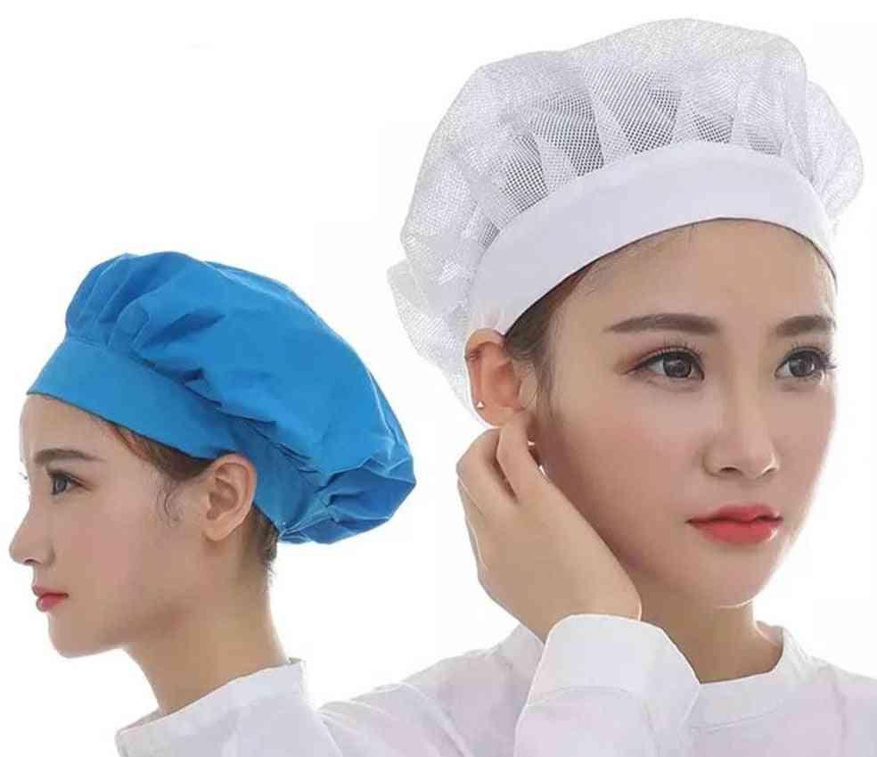 Elastic Mesh Caps Café Bar Kitchen Restaurant Chef Work Wear Hats
