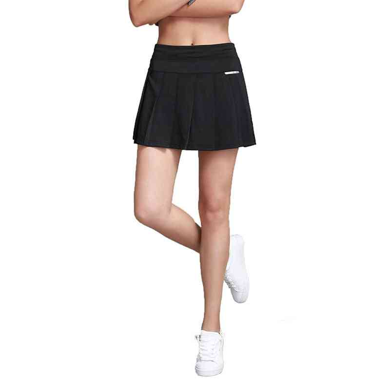 Women & Pleated Tennis Skirt With Shorts