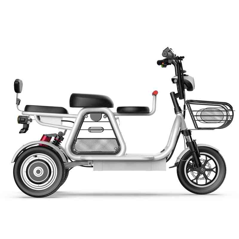 New Electric Bike Parent-child 3 Wheels Electric Bicycle Large Lithium Battery