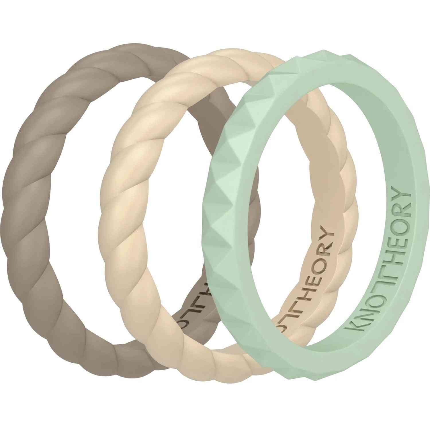 Kindness Stackable 3-pack Silicone Rings