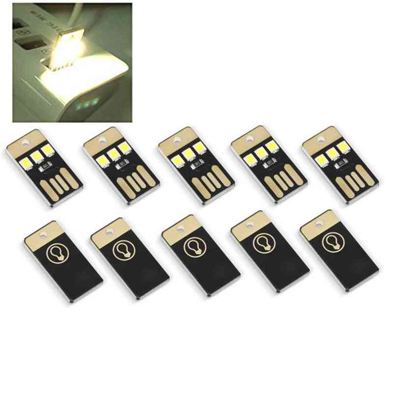 Mini Usb Power Led Light, Night Camping Equipment For Power Bank, Computer Ultra Low Power Pocket Card Lamp