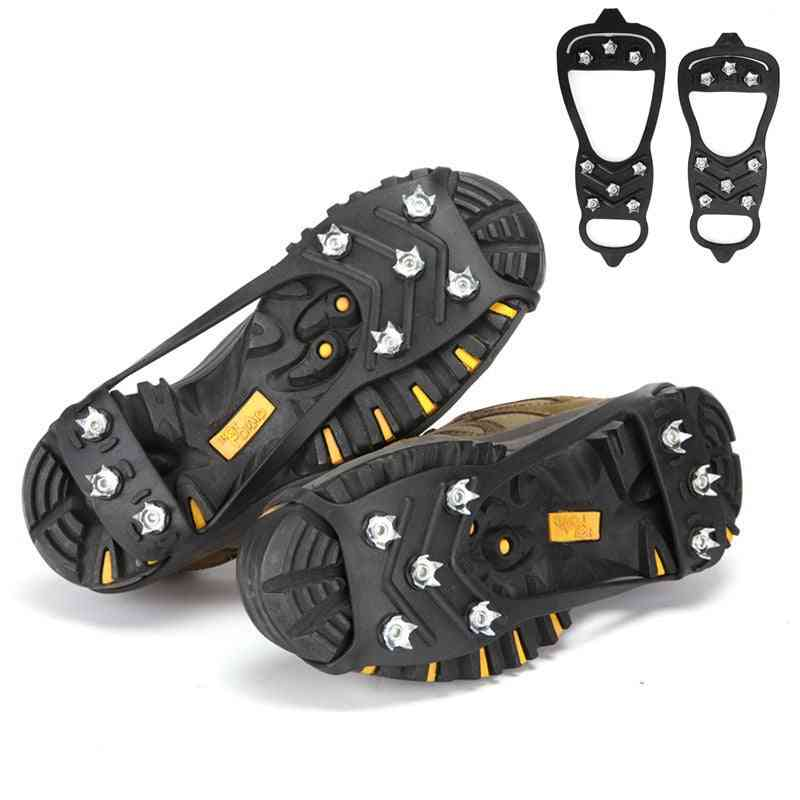 Professional Climbing Crampons,  Anti-skid Ice, Snow Camping Walking Shoes, Spike Grip, Winter Outdoor Equipment