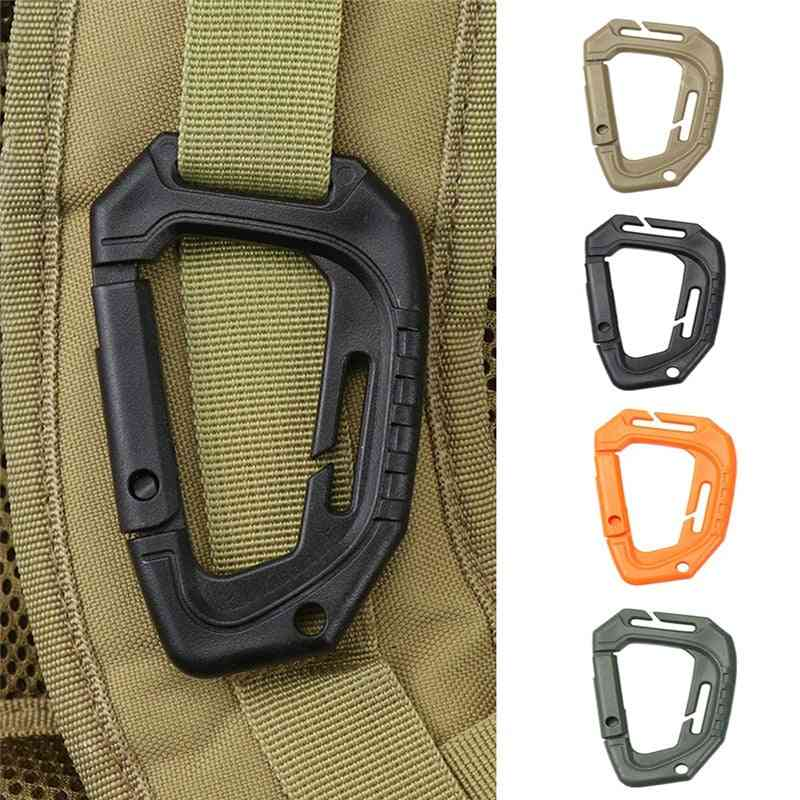 Big D-type Plastic, Steel, Tactical Molle Quick Hook, Hanging Buckle, Clip, Outdoor Camping Backpack Bag, Edc Tool Accessories