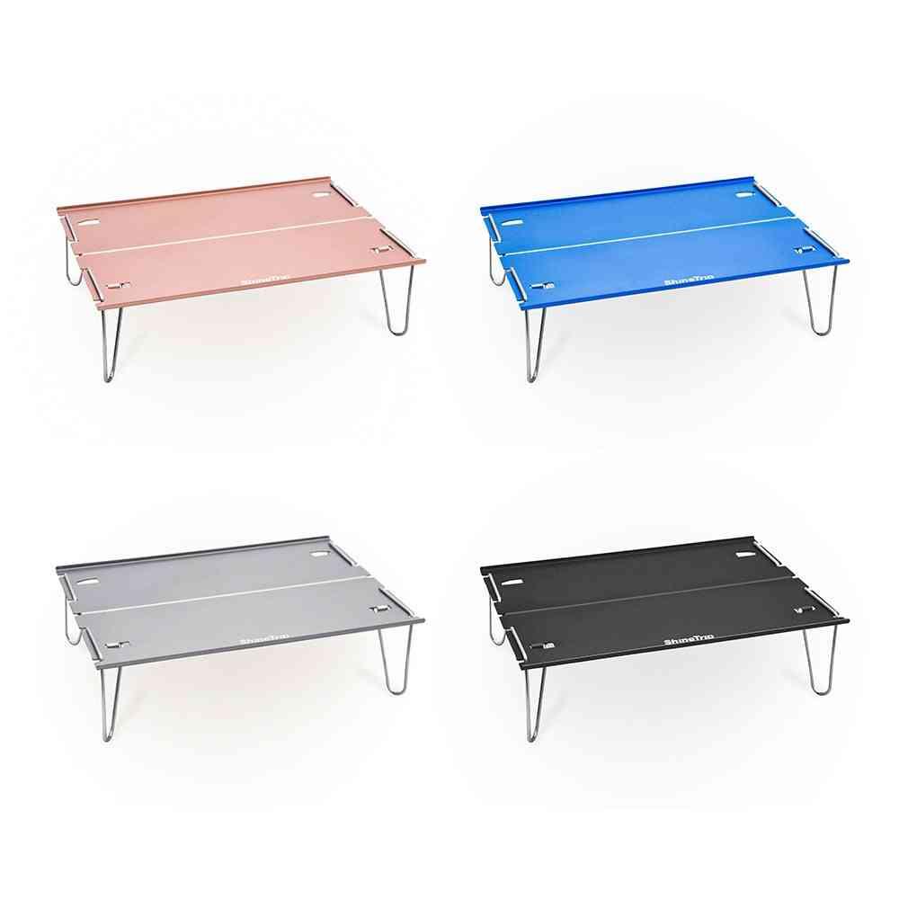 Outdoor Aluminum Alloy Camping, Folding Table, Portable, Mini Barbecue Coffee Tables, Super Light, Multi-purpose