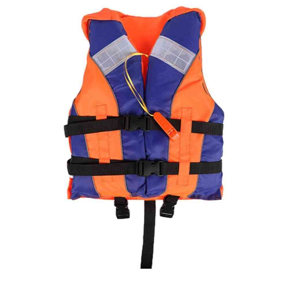 Swimming Boating Life Vest With Whistle Reflective Strips