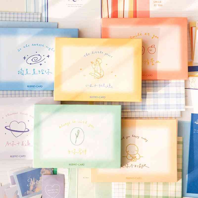 Boxed Little Prince Envelope, Letter Set, Creative Greeting Card, Stationery Birthday Decoration Materials