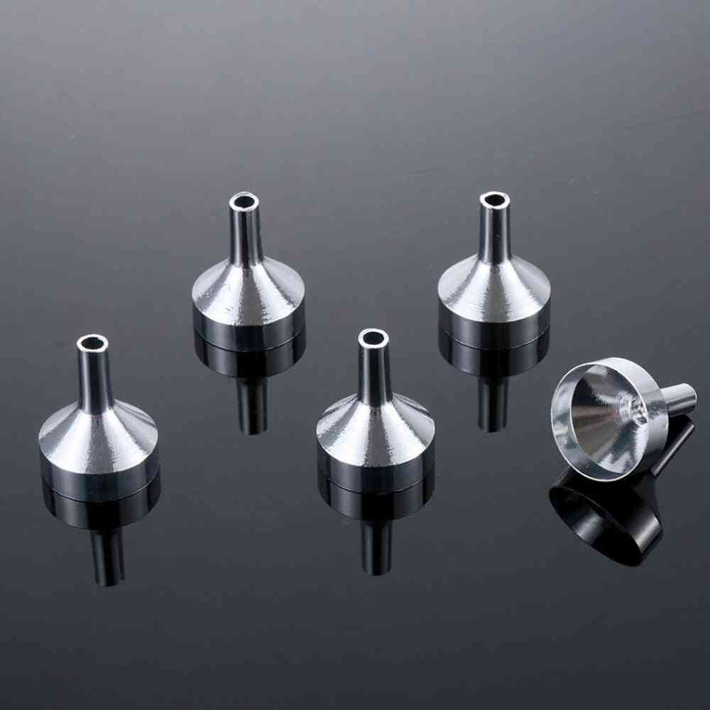 Mini Metal Funnels For Filling Small Bottles Transferring Liquid Refill Tool