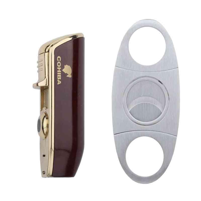 Gas Torch Butane Lighter Cutter Sharp Cigar