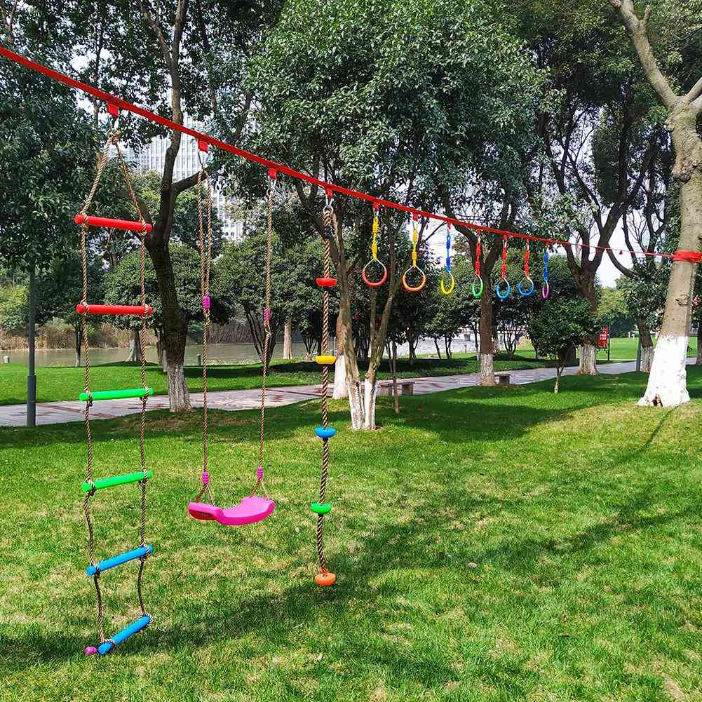 Colorful Swing Bar Rings, Outdoor Gymnastic, Ninja Obstacle Course Kit, Aerial Climbing, Hanging For