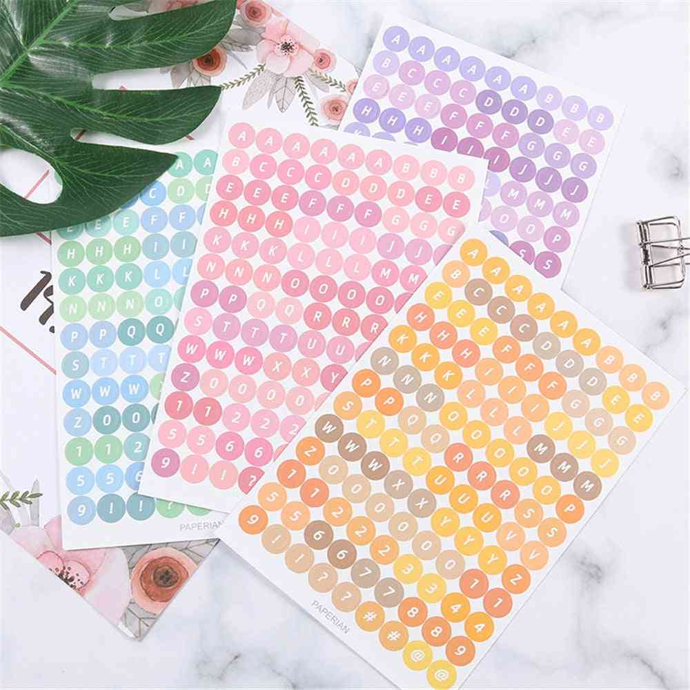 Colorful Numbers, Letter, Alphabet Sticker, Heart Stickers, Diy Planner Notebook, Journaling Decorations Stationery