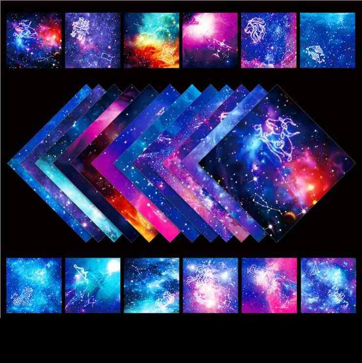 15*15cm Kid Diy Fold Craft Paper Handmade Double Side Coloring Decor Art Material Educational Paper For Children 50pcs