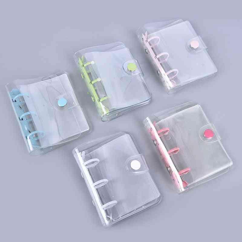 3-ring, Mini Loose-leaf, Transparent Ring Binder For Hand-book, Binding