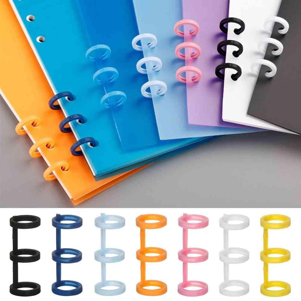 Refillable Spiral Ring, Loose-leaf, Book Binder, Hinged Rings, Scrapbook Clips