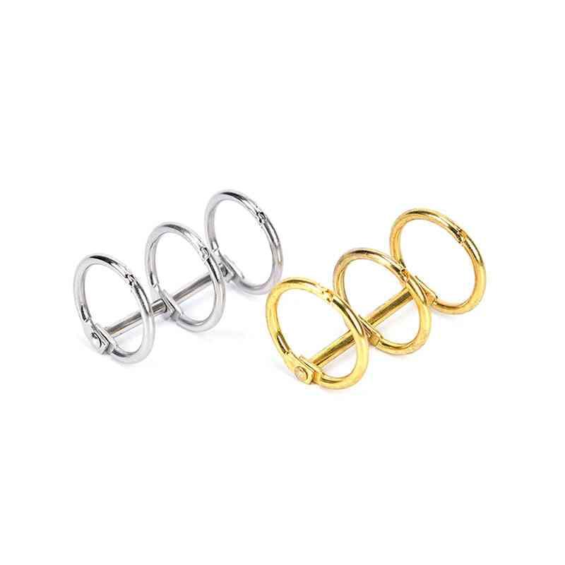 3-holes, Metal Clip Ring For Notebook, Loose Leaf, Ring Binder