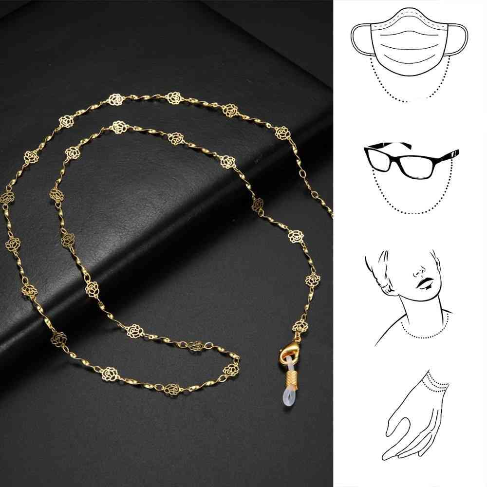 Gold Color Chains For Sunglasses