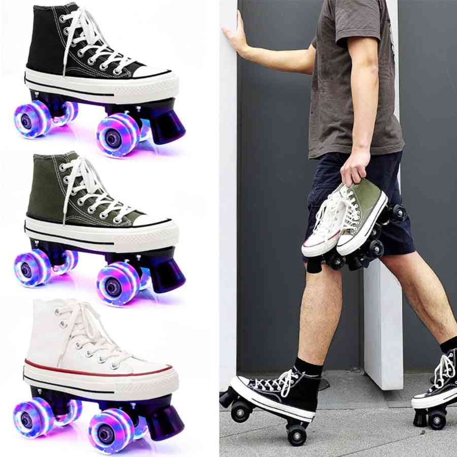 Japy Roller Skates, Double Line Skates, Women Skating Shoes