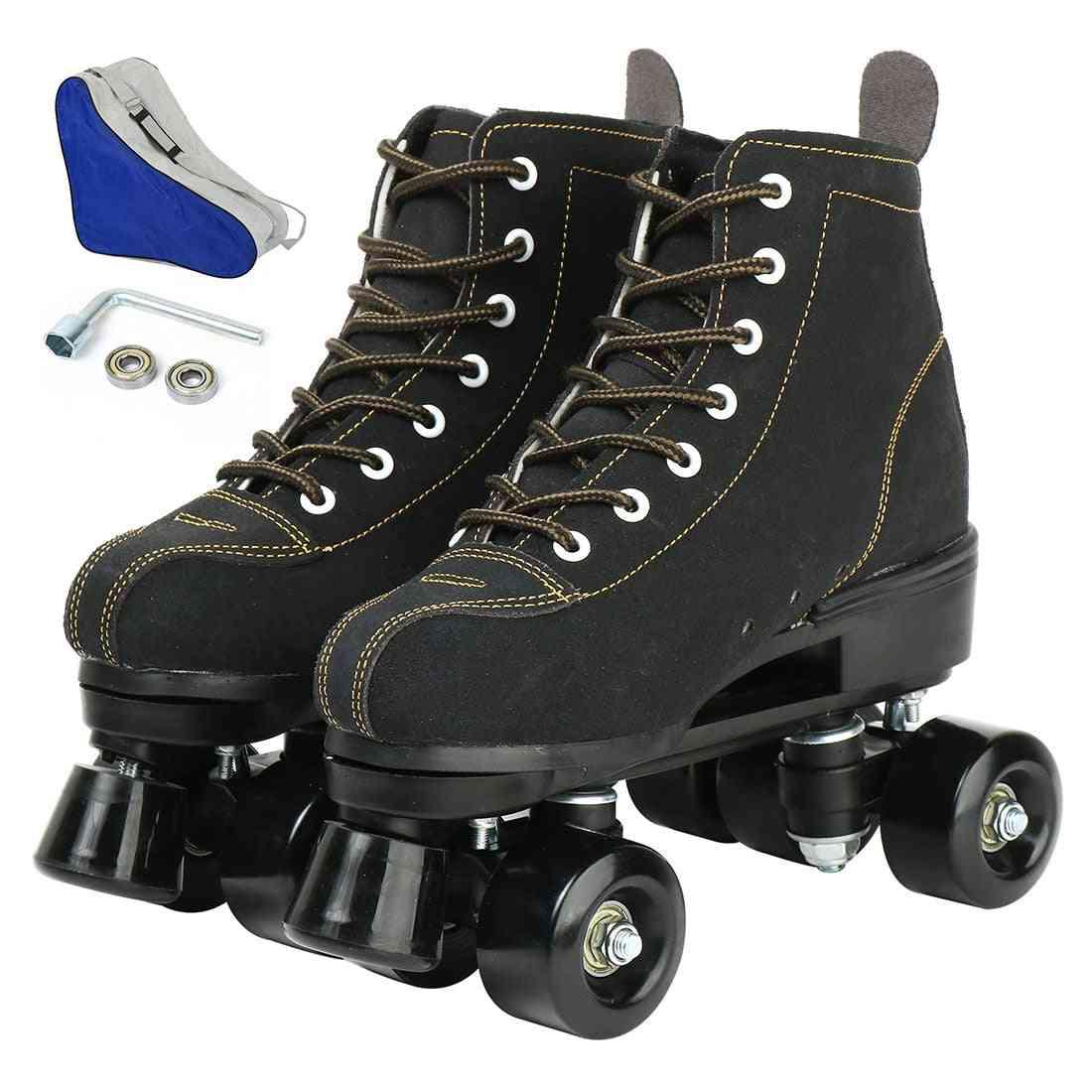 Roller Skates, Flash Wheels Shoes, Double Line Skates